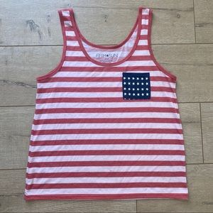 Fifth Sun Top 4th of July Red White Blue Sz Large